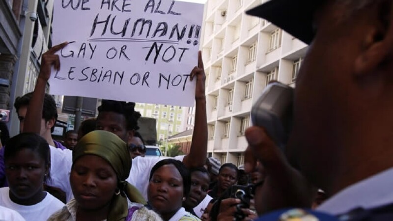 Protesta gay en Sudáfrica