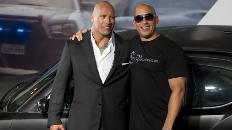 The Rock Vin Diesel Rapido y Furioso