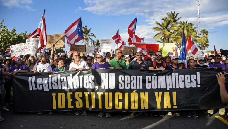 Fifth day of protests calling for the resignation of Governor Ricardo Rossello in San Juan