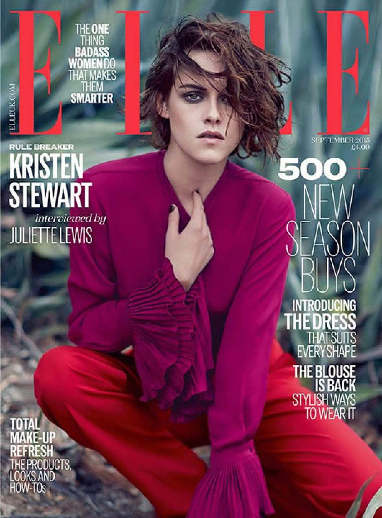 ELLE UK: Kristen Stewart protagoniza su segunda portada este año en el mes de septiembre.