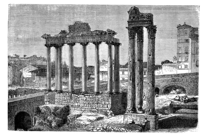 Grabado de foro Romanum Rome Italy 1868.jpg