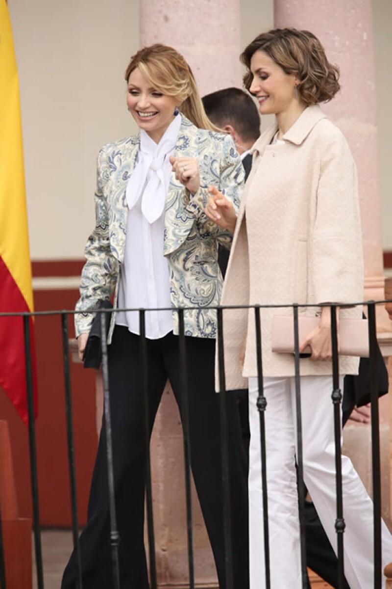 Angélica Rivera y Letizia se mostraron muy amistosas entre sí.