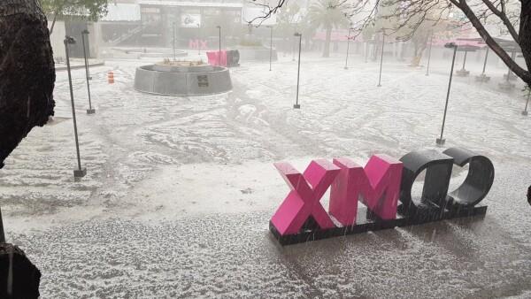 Graniza en la Ciudad de México