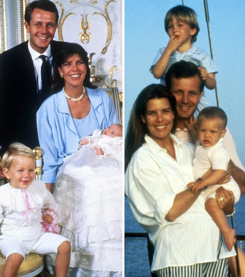 Andrea con su padre, madre y Carlota.