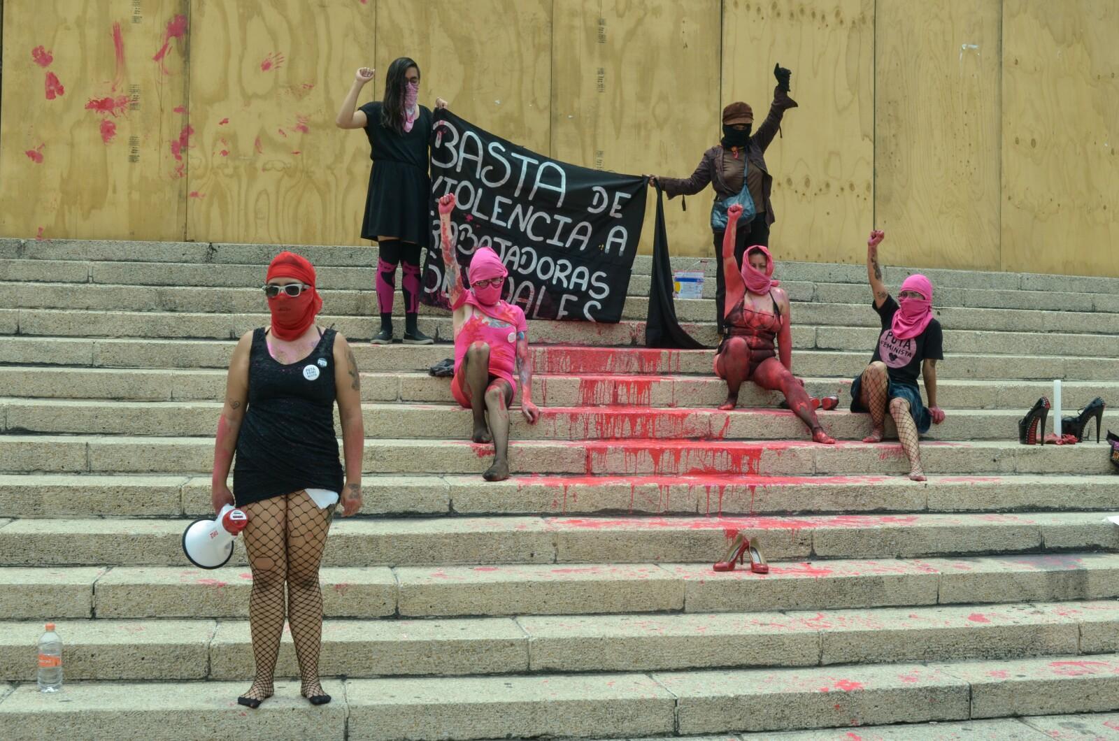 #EnFotos | La protesta contra la violencia hacia las trabajadoras sexuales
