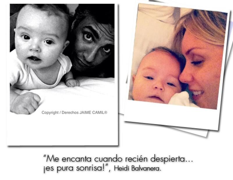 Elena es la primer hija de Jaime Camil y Heidi Balvanera.