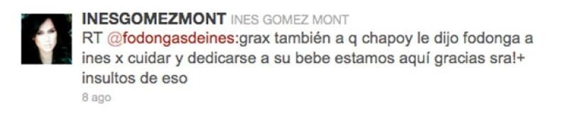 Ante esta polémica entre ambas periodistas, un grupo llamado fodongasdeines apoyaron a Inés.