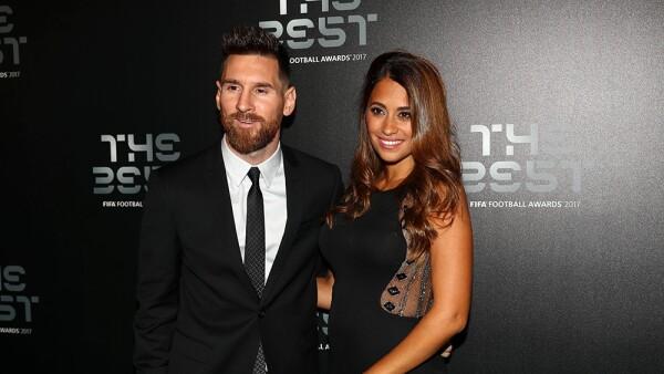 Lionel Messi y Antonella Rocuzzo