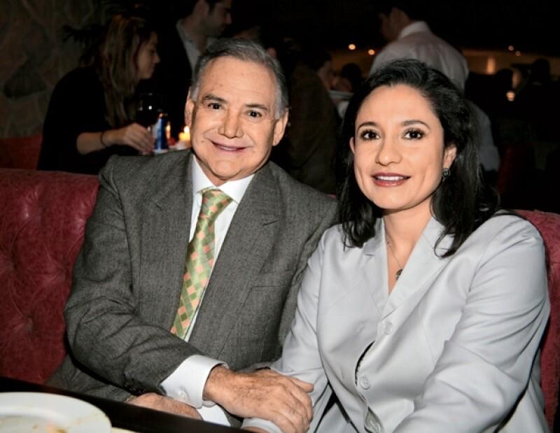Raúl Salinas y Cecilia Martínez, con quien el hermano del ex presidente de México tiene una relación sentimental.