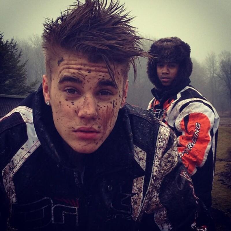 Justin reveló sus gustos por los deportes extremos, aunque esto haya arruinado su peinado
