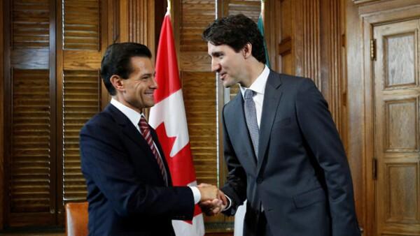 El presidente de México viajó a Québec para una visita de Estado, donde además tuvo oportunidad de hacer ejercicio con el primer ministro Justin Trudeau.