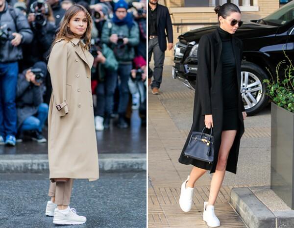 Los sneakers no son sólo una pieza obligada para la ocupada agenda de un editor, también lo es para Kendall.