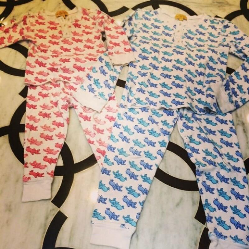 Kourtney es una mamá detallista, prueba de ellos estas pijamas a juego.