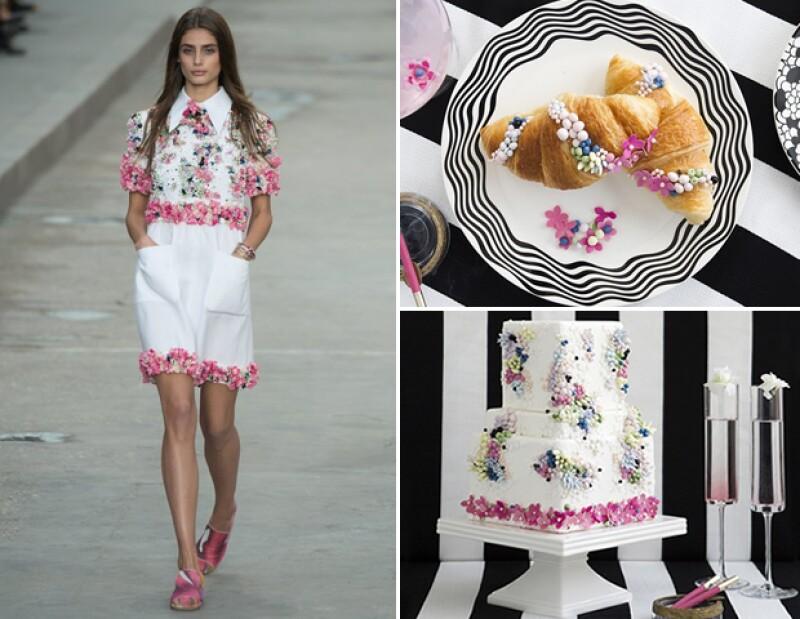 """Lori se inspiró en el típico desayuno francés: """"café y cigarro"""" para el pastel de Chanel."""