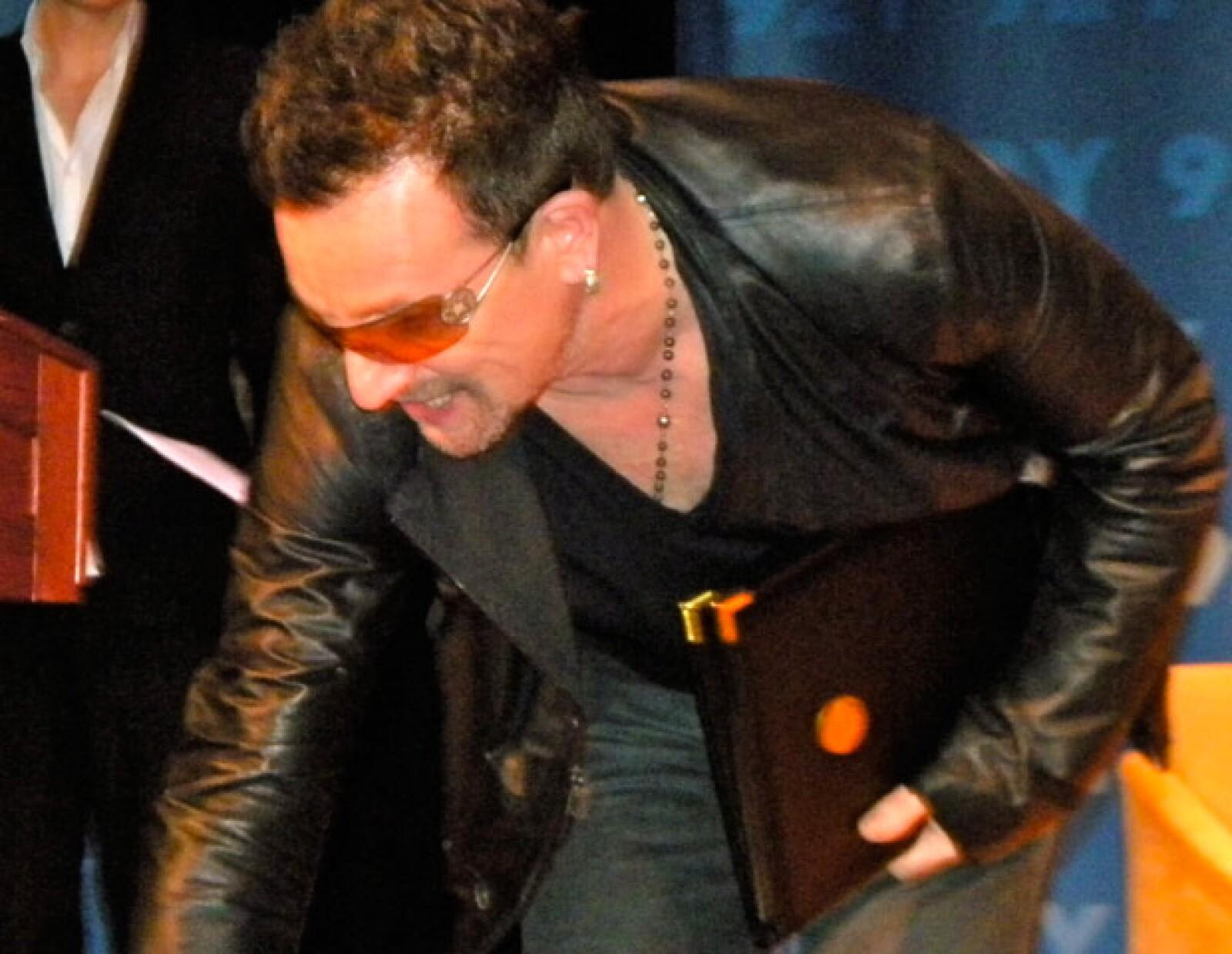 Bono en el 92Y de Manhattan, el lunes 13 de junio, 2011, víspera del estreno en Broadway de Spiderman.