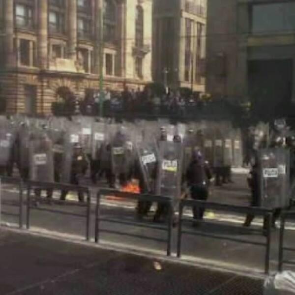 Protestas- Toma de protestas- Zócalo 4