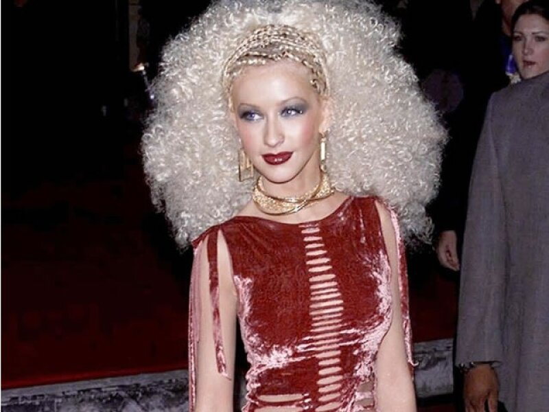 Cristina Aguilera en el Blockbuster Entertainment Awards.