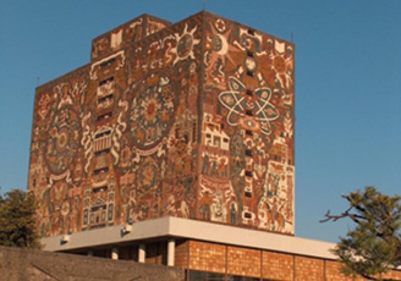 El mural 'Representación histórica de la cultura' (1952), en la Biblioteca Central de Ciudad Universitaria. (Foto: Cortesía SXC)