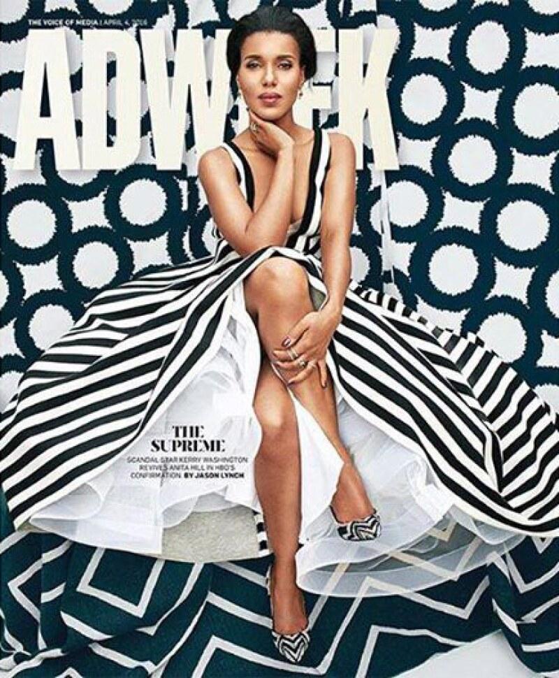 """La actriz de """"Scandal"""" expresó su molestia ante esta portada, pues su imagen fue tan alterada que luce irreconocible."""