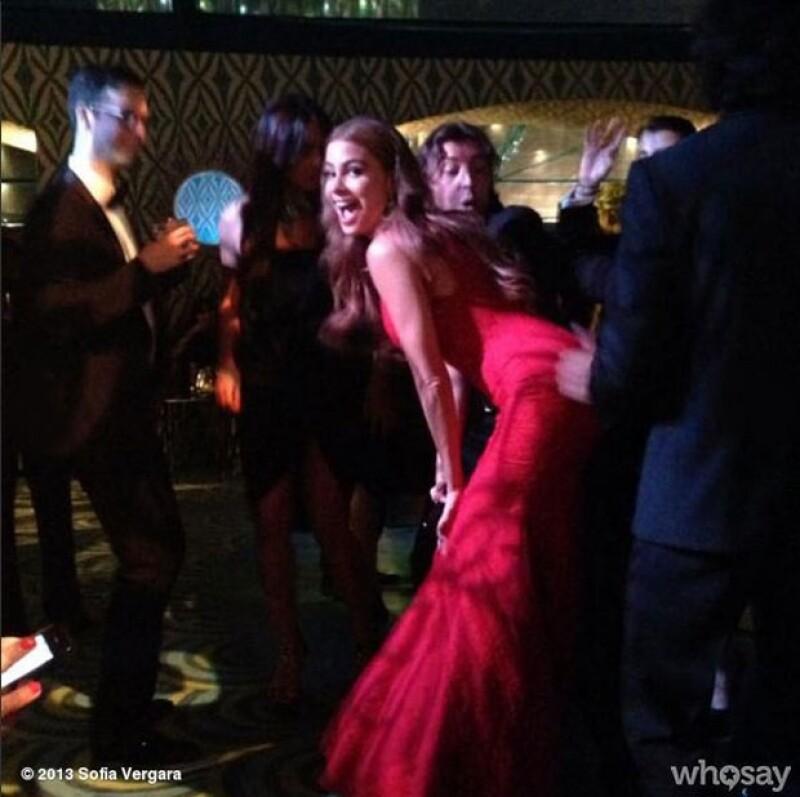 La actriz demostró que si de bailar se trata ella es la reina.