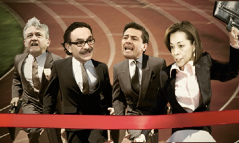 Los candidatos se concentraron en sus estrategias para el debate del domingo 6 de mayo. (Foto: Especial)