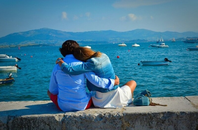 La pareja también ha visitado varios románticos destinos.