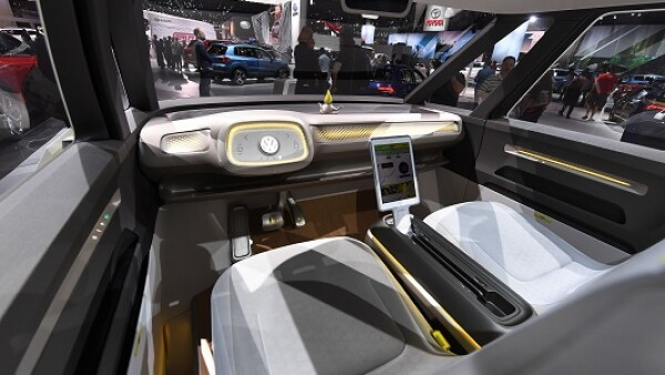 Volkswagen interior de auto inteligente