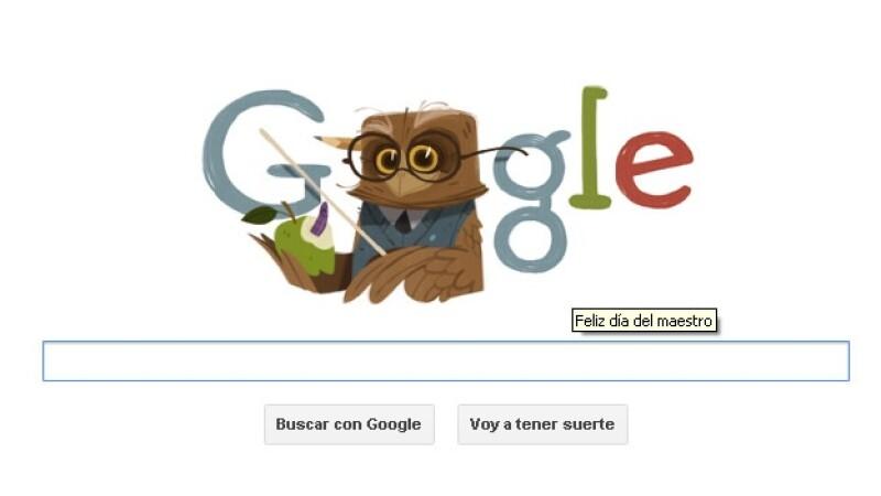 google, doodle, buho,, dial del maestro