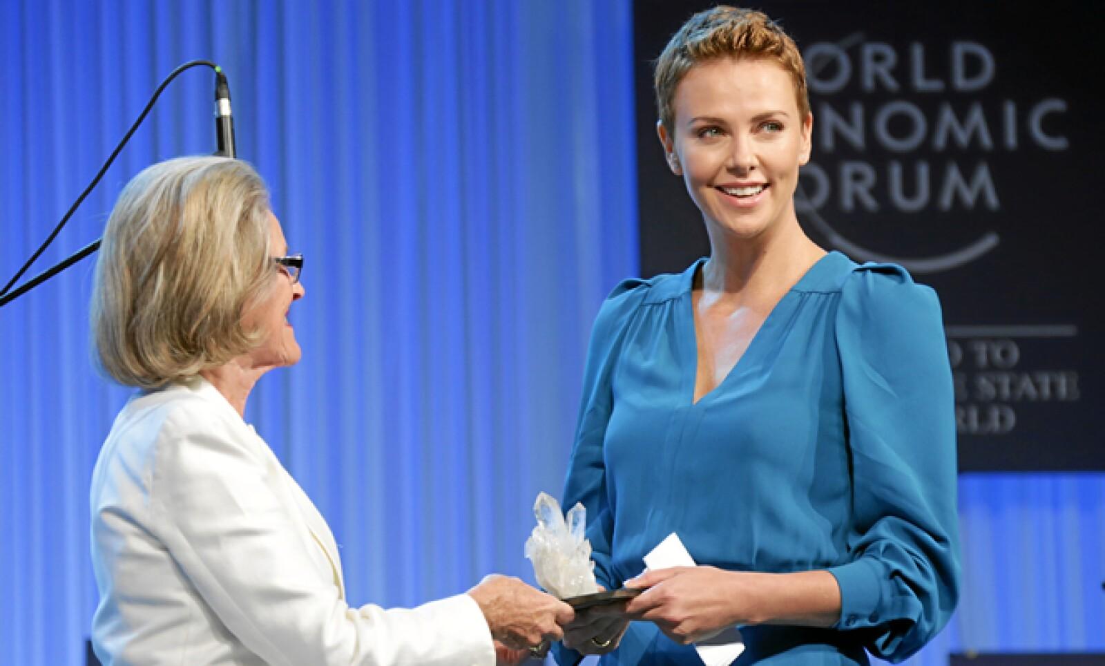 La actriz participó en la inauguración de la reunión anual del WEF en este 2013.