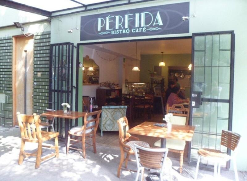 Pérfida, bistro café es un lugar acogedor en el corazón de la Ciudad de México.