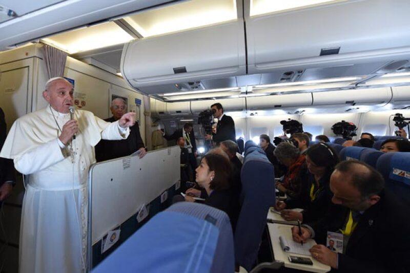 para la comida, el Papa ha elegido una dieta blanda.