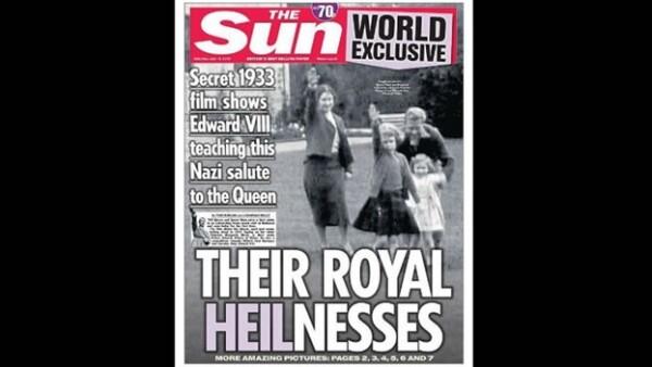 Reina Isabel nina saludo nazi