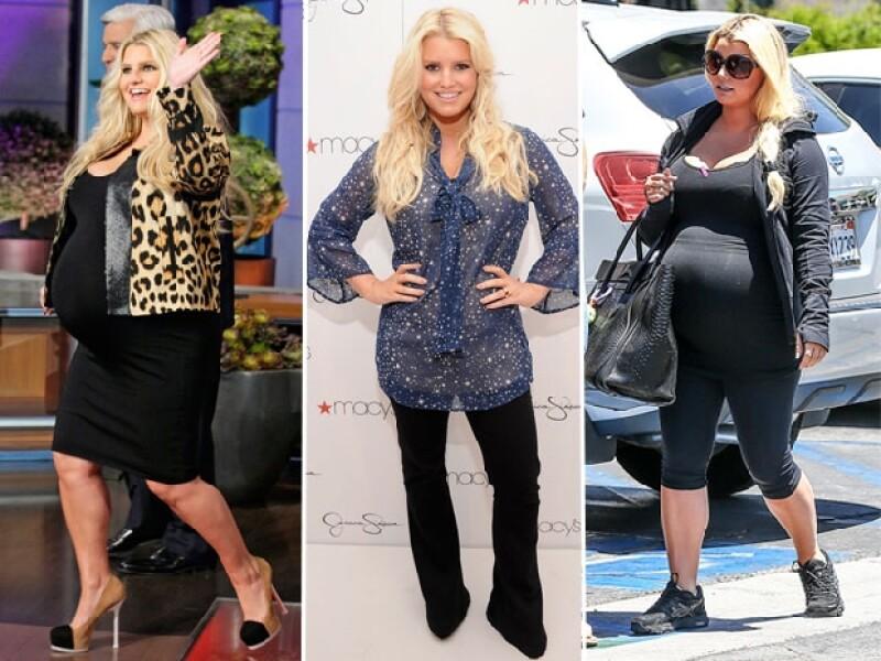 La cantante y diseñadora fue captada de paseo con su familia y pudimos percatarnos de que nuevamente su figura ha sufrido un gran cambio en este segundo embarazo.