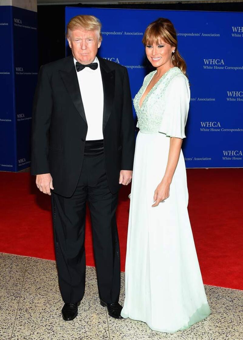 Donald Trump asistió con su esposa a la gala en la Casa Blanca.
