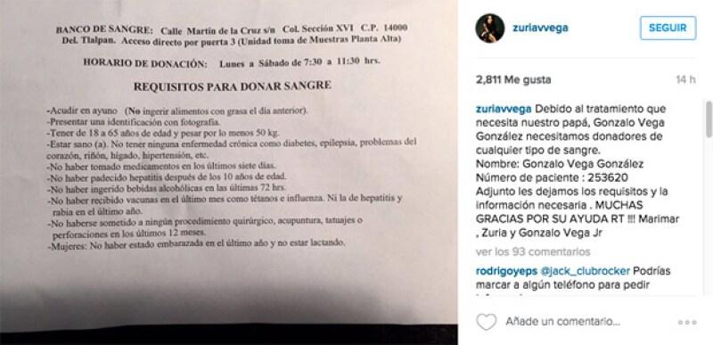 Esta publicación ha circulado en redes sociales a través de las cuentas de los amigos de Marimar y Zuria.
