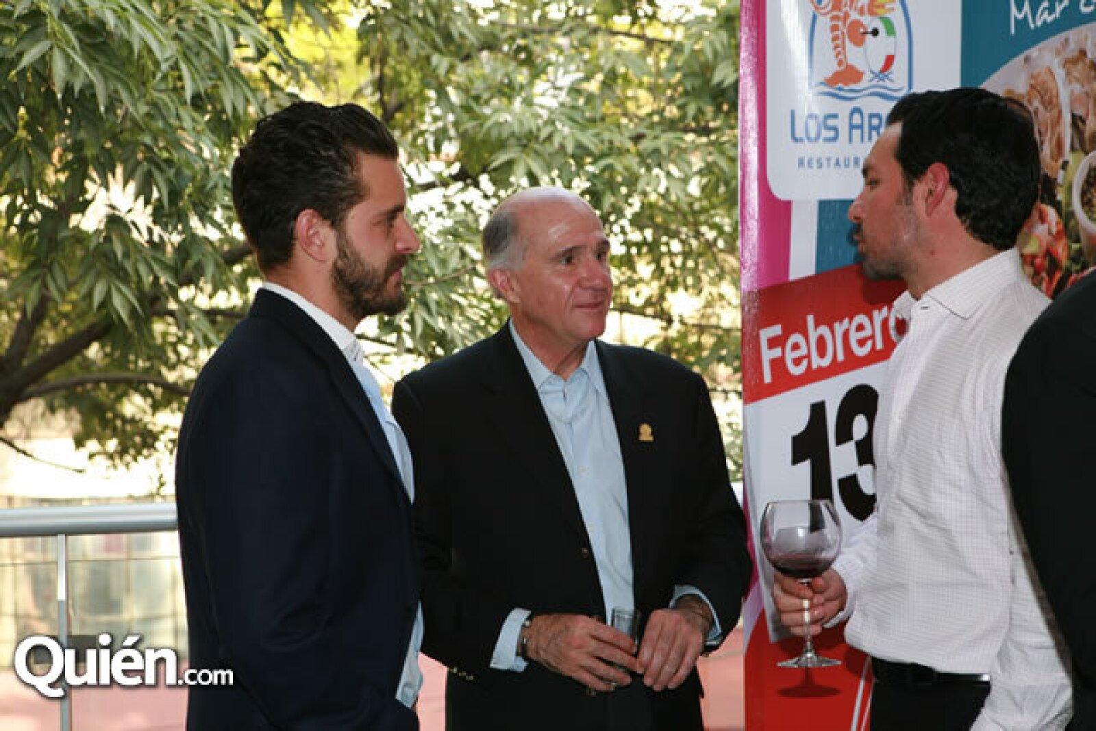 Diego Cuaik, Francisco Mijares Noriega y Pablo Gutiérrez