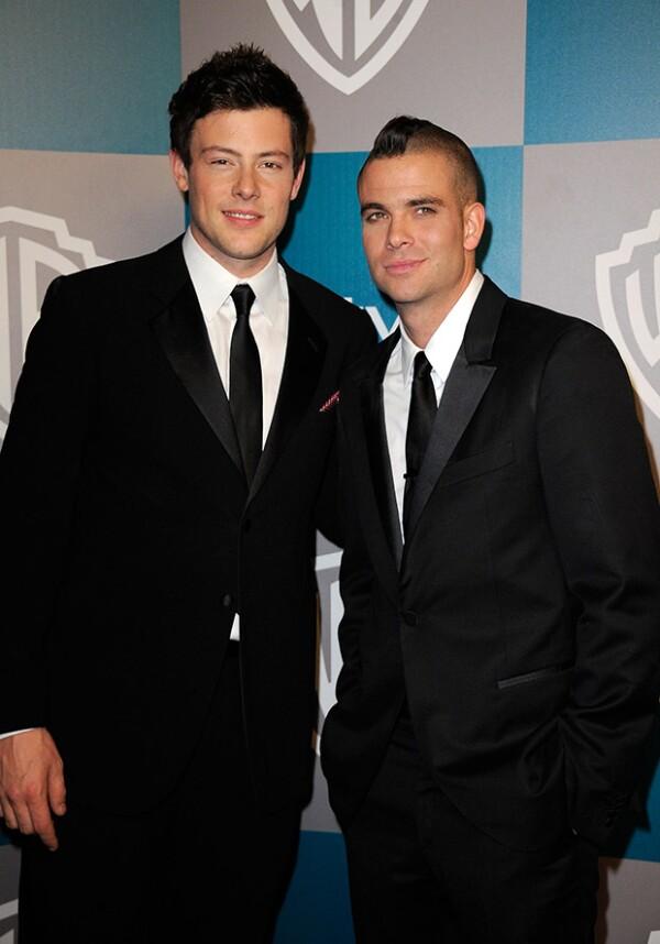 Mark Salling junto al fallecido actor Cory Monteith, con quien actuó en Glee.