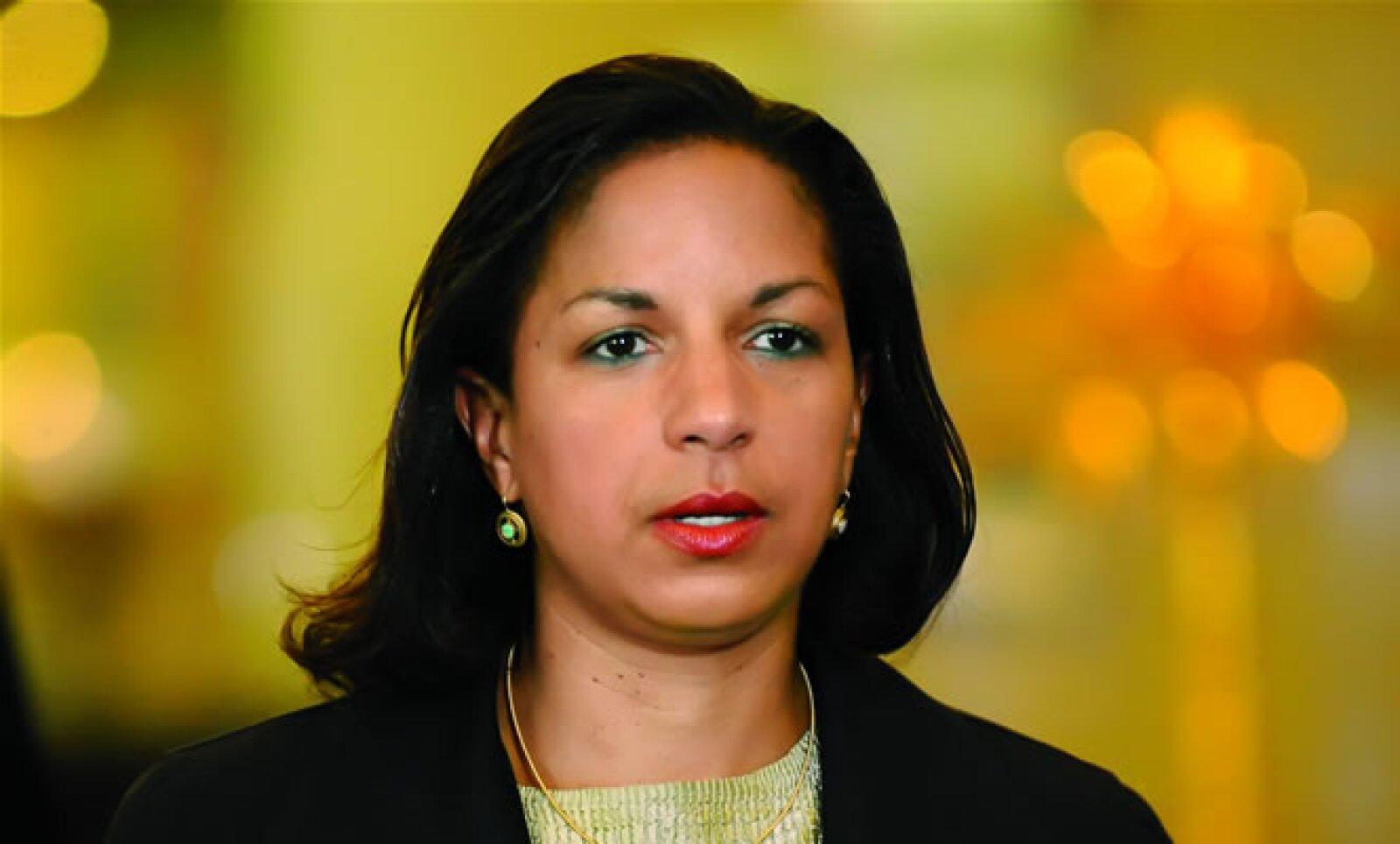 Susan Rice es la primera afroamericana en ser embajadora de EU ante la ONU. Directa y sin miedo a expresarse, Barack la respeta y valora por sus conocimientos.
