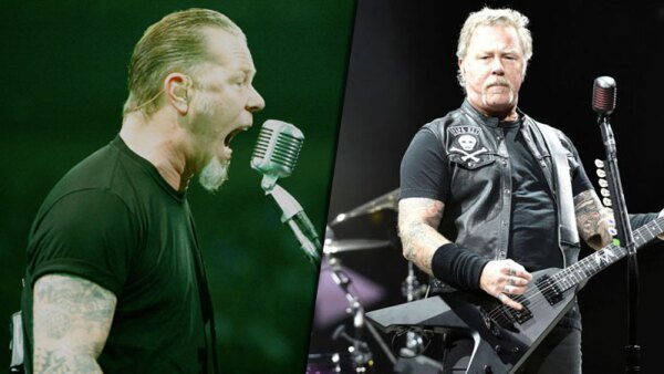 2009 vs 2019. James Hetfield de Metallica (Getty Images)