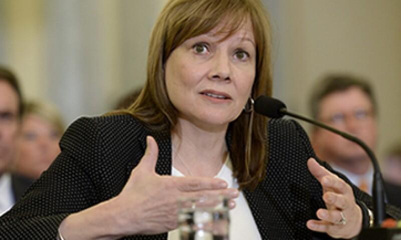 La CEO de GM, Mary Barra, fue llamada a comparecer ante el Congreso de EU. (Foto: EFE)