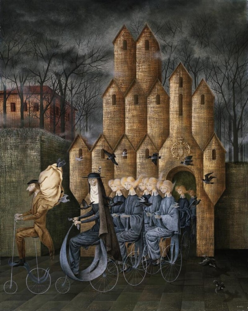 """""""Hacia la Torre"""" de Remedios Varo."""