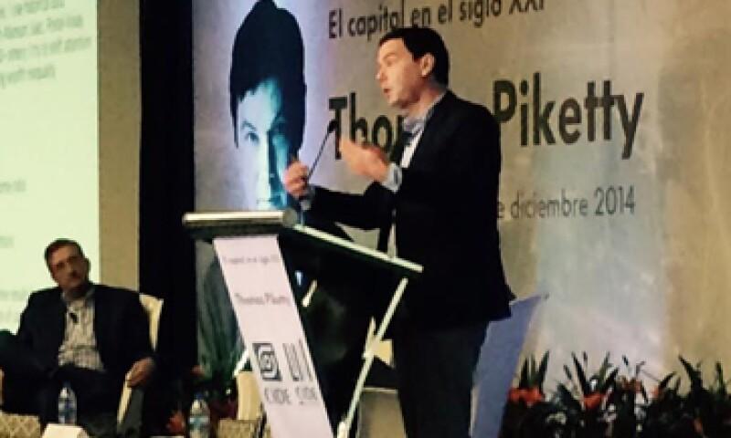 Thomas Piketty presentó en México su libro El Capital en el Siglo XXI. (Foto: Alejandro Bazán)