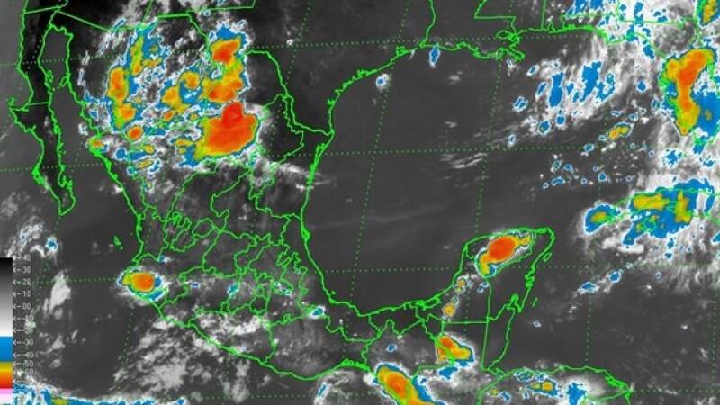 La actividad de lluvias que presenta para este lunes el territorio naciona