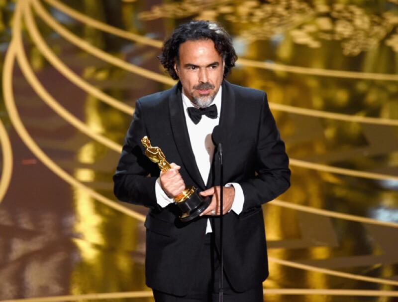 """El director mexicano vuelve a ganar el Oscar como """"Mejor Director"""" por su película The Revenant."""