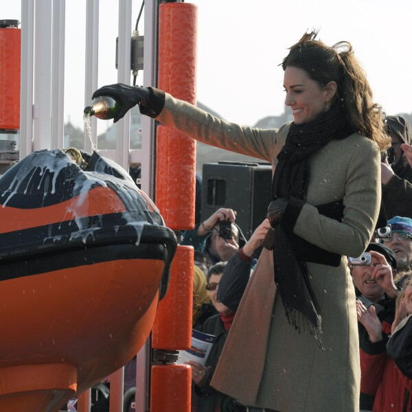 Prince William and Miss Catherine Middleton visit Trearddur Bay RNLI Lifeboat Station