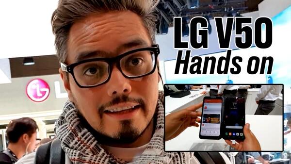 LG V50 Hands on: Un celular que se dobla diferente