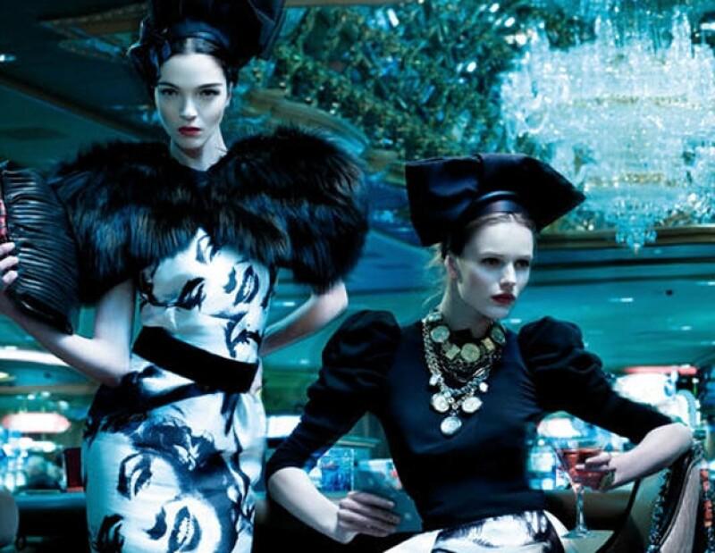 Dolce Gabbana propone piezas en blanco y negro.