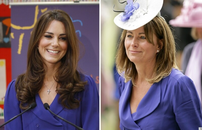 Kate y Carole usando el mismo vestido Reiss.