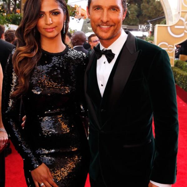 Como siempre juntos y radiantes, Matthew McConaughey y Camila Alves