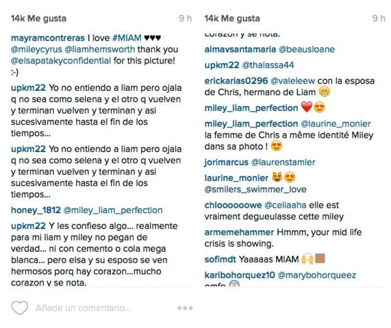 Los comentarios sobre una posible reconciliación entre Miley y Liam son encontrados.